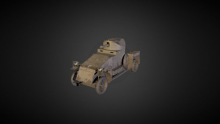 Lanchester Armored Car 3D Model