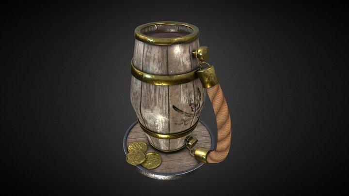 GDC Beer Bust Challenge - Pirate Beer Stein 3D Model