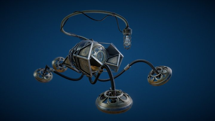 Steampunk underwater explorer 3D Model
