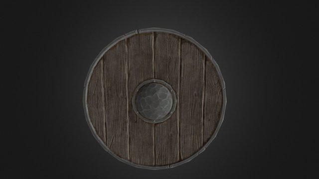 Simple Wooden Shield 3D Model