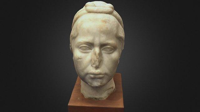 Marble portrait head of a woman 3D Model