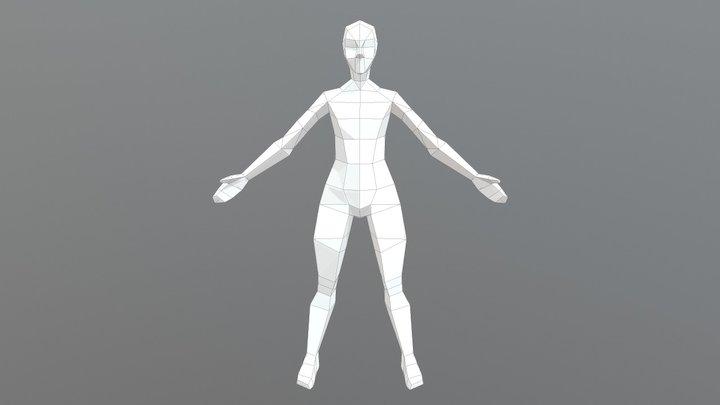Low poly female model 3D Model