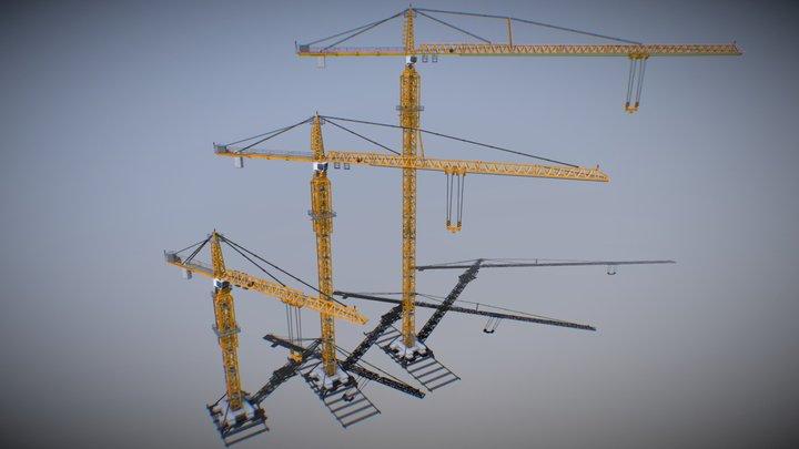 Liebherr 630 EC-H 40 Tower Crane (Yellow) 3D Model