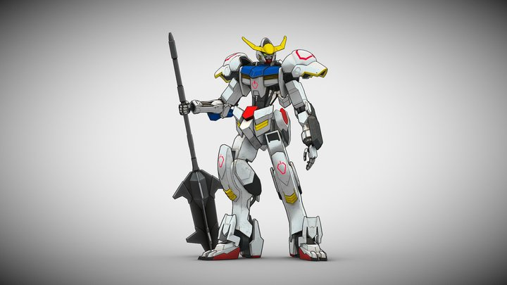 Gundam Barbatos 3D Model