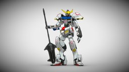 Gundam Barbatos 3D Model