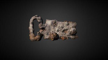 Garniture de ceinture damasquinée 3D Model