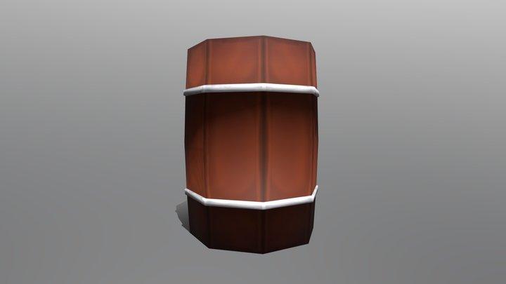 Low Poly Barrel 3D Model
