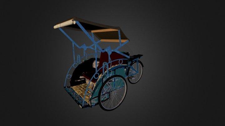 Cycle rickshaw - Be Chia - Becak 3D Model