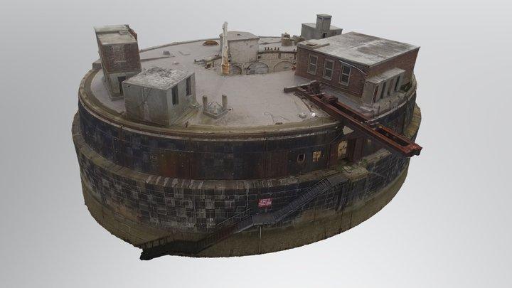 Plymouth Breakwater Fort 3D Model