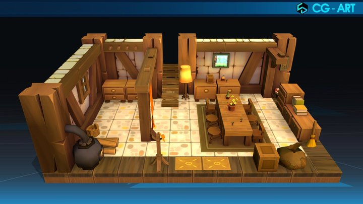 Players' Houses 01_Sufokia Dofus 3D Model