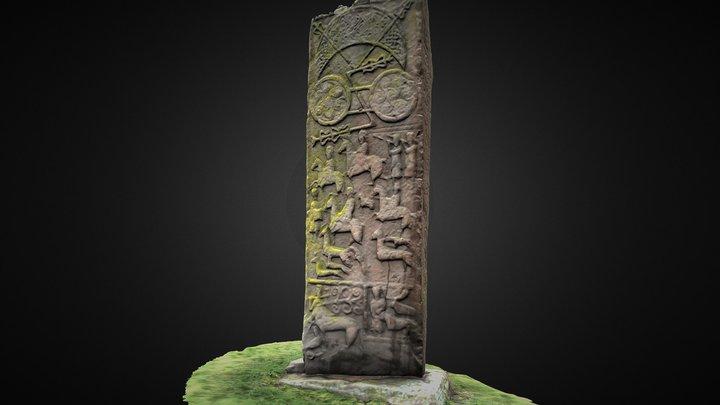 Aberlemno 3 Pictish Symbol Stone 3D Model