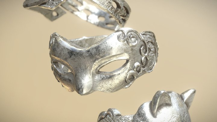 Silver Rings 3D Model