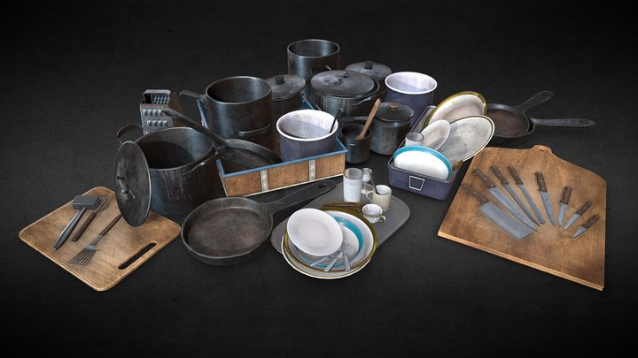 Restaurant Kitchen Set - Part 1 3D Model