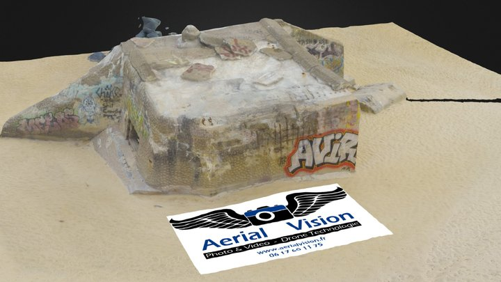 WWII Bunker par www.aerialvision.fr 3D Model