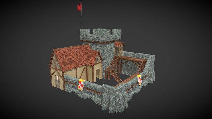 Medieval Barracks 3D Model