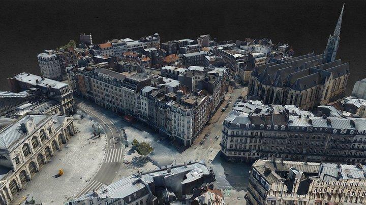 Lille - rue Faidherbe 2020 echantillon levé 3D Model