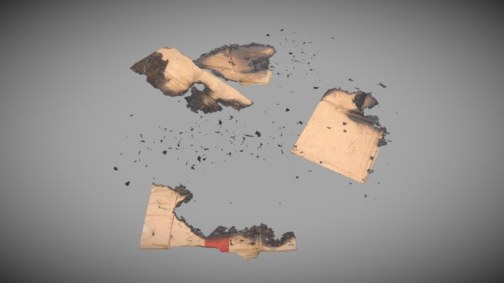 Decal - Burnt CardBoards - Ready to Unity HDRP 3D Model