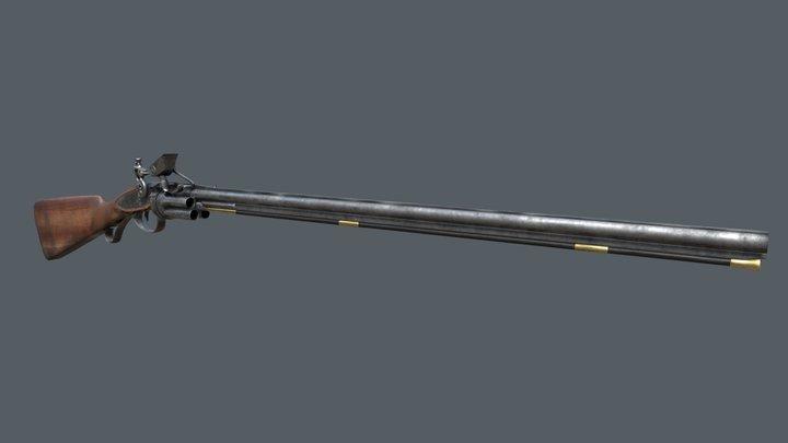 Collier Revolver Rifle 3D Model