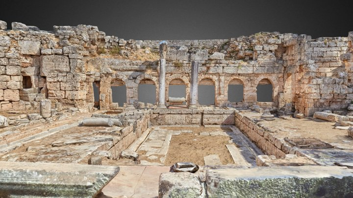 Fountain of Peirene, Corinth 3D Model