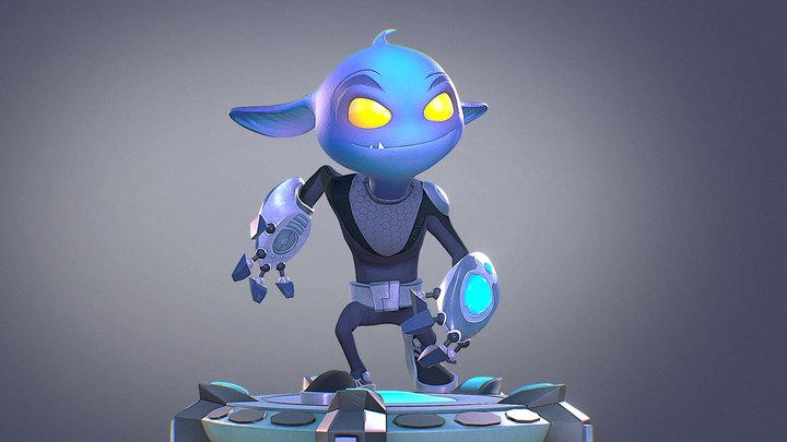 Zapp - The Small Alien 3D Model