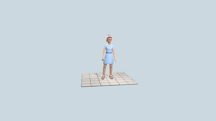 Cartoon nurse 3D Model