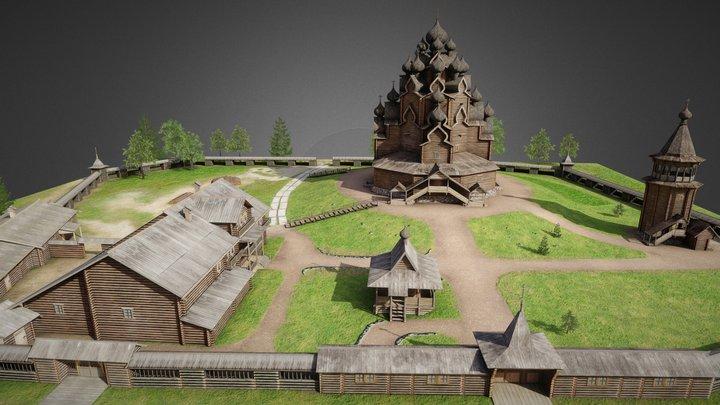 The homestead Bogoslovka 3D Model