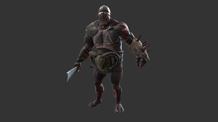 Fantasy Horde Ogres 3D Model