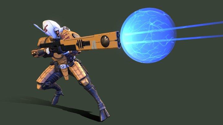 Fan Art - Tau Fire Warrior 2020 3D Model