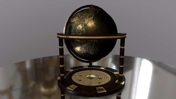 The first terrestrial globe 3D Model