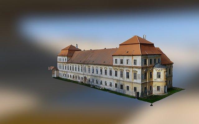 Benediktýnský klášter Rajhrad 3D Model
