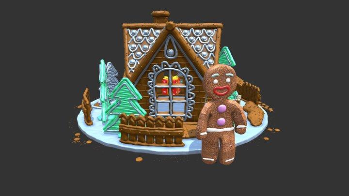 happy home smaller3 3D Model
