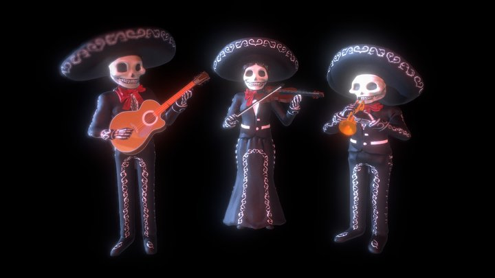 Day of the Dead Mariachi Band 3D Model