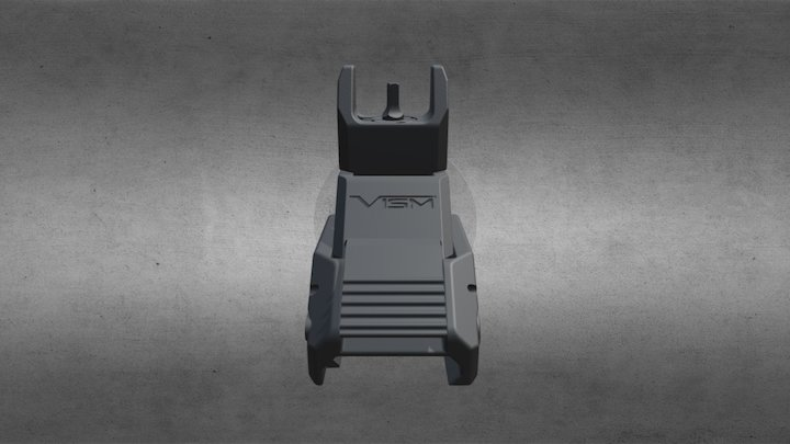 Front Flip up Iron Sight 3D Model