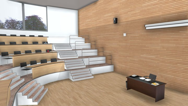 Lecture theatre 3D Model