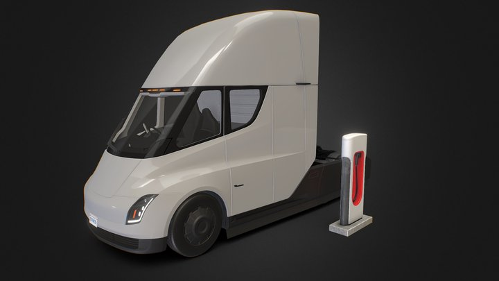 Electric Truck (Tesla Semi) 3D Model