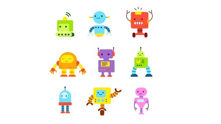 Robot Cartoon Collection 3D Model