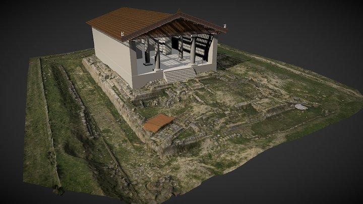 Tempio Ara della Regina su basamento 3D Model