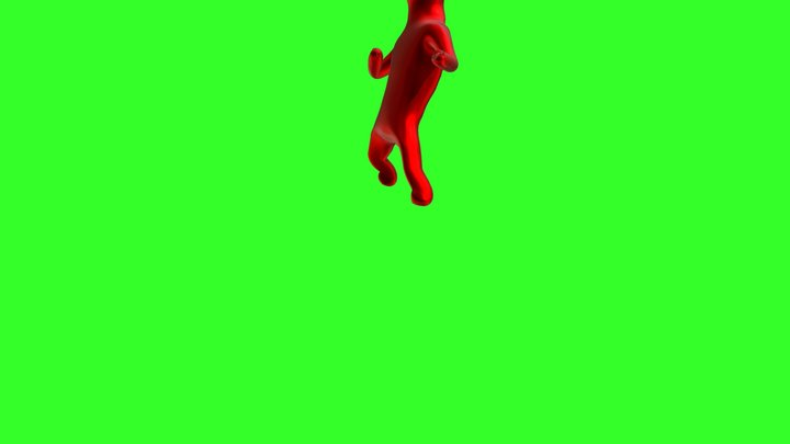 Kicking 3D Model