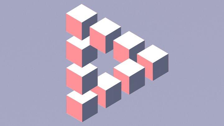 Reutersvärd's Triangle 3D Model