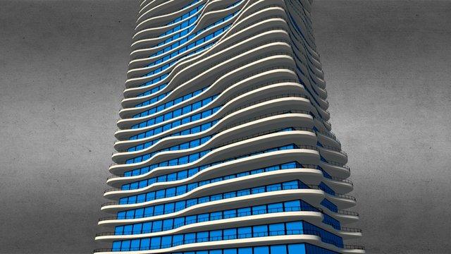 Aqua Tower 3D Model 3D Model