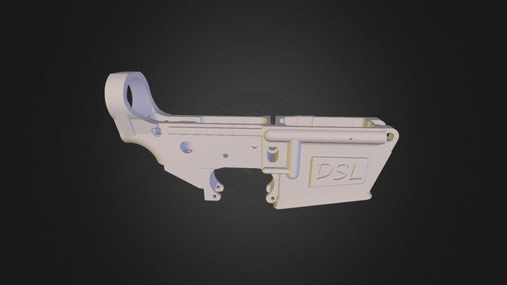 AR 15 Lower 3D Model