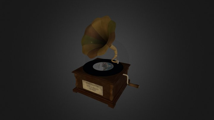 Old Gramophone 3D Model