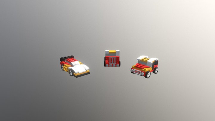 Lego 31000 Mini Speeder 3D Model