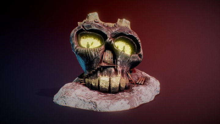 Haunted House - Skull 3D Model
