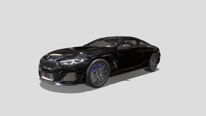 BMW 8 Series M850i coupe 2019 3D Model