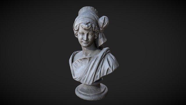 Woman Bust Statue Scan 3D Model