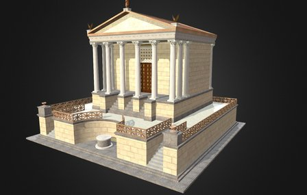 tempio divo giulio 3D Model
