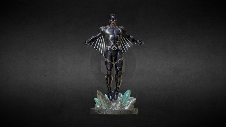 Black Bolt 3D Model