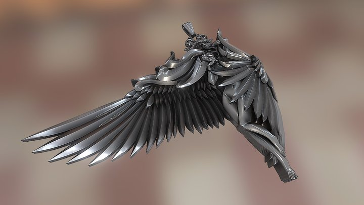 """""""Woman with wings"""" 3D Model"""