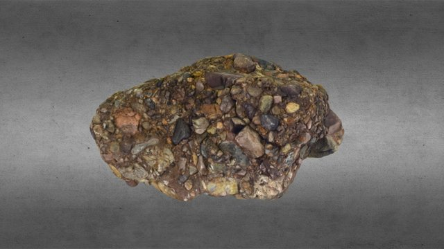 Conglomerate from Alluvial Fan 3D Model